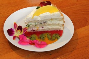Passion Fruit Ricotta Cake