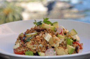 Anson Farms Farro Salad at George's Califonia Modern Ocean Terrace
