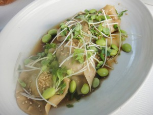Edamame Dumplings at True Food Kitchen. Photo by Mar Yvette for MarPop.